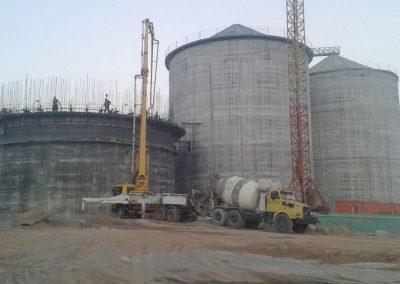 پروژه سیلوی بتنی سیزده هزار تنی کارخانه آرد نهاوند